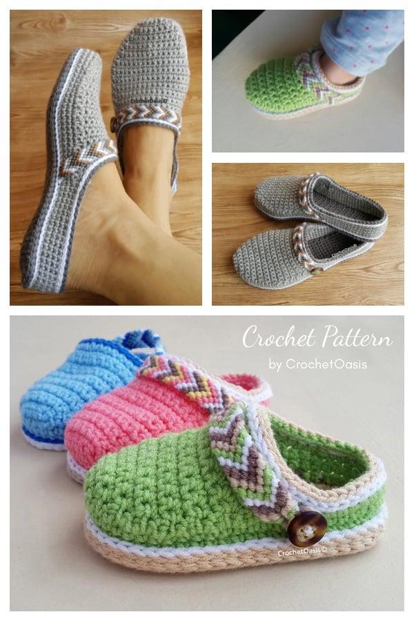 Tribal Clogs Low-back Shoe Crochet Patterns