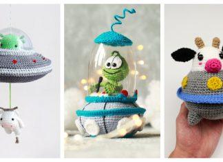 UFO Alien Amigurumi Crochet Patterns