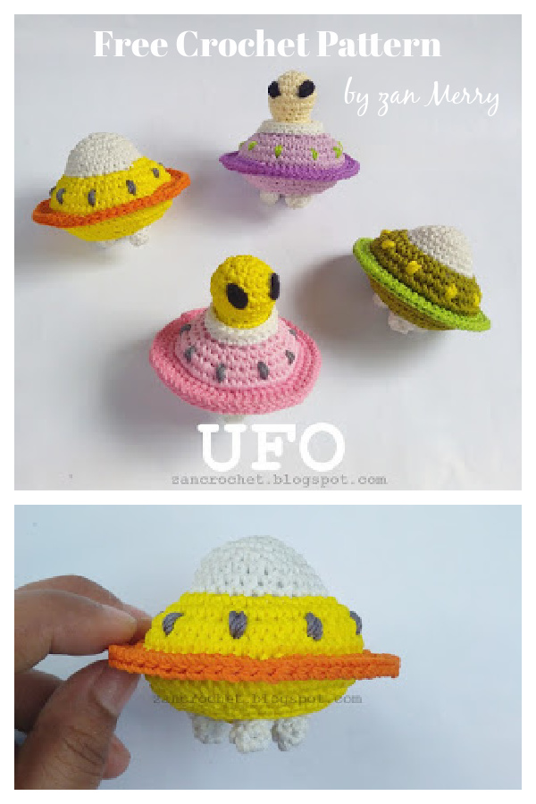 UFO Amigurumi Free Crochet Pattern