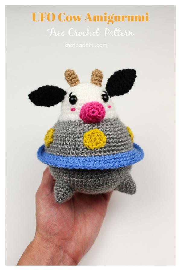 UFO Cow Amigurumi Free Crochet Pattern