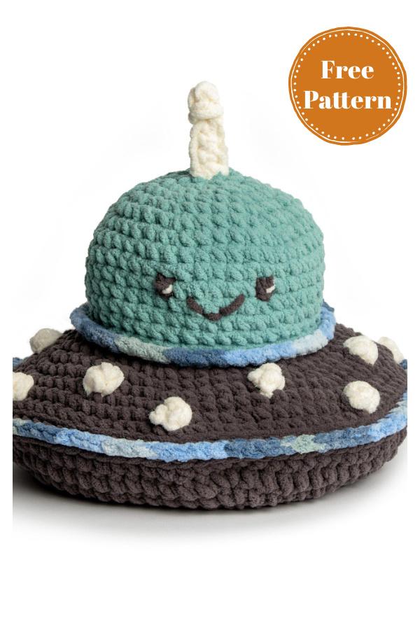 UFO Stuffie Free Crochet Pattern