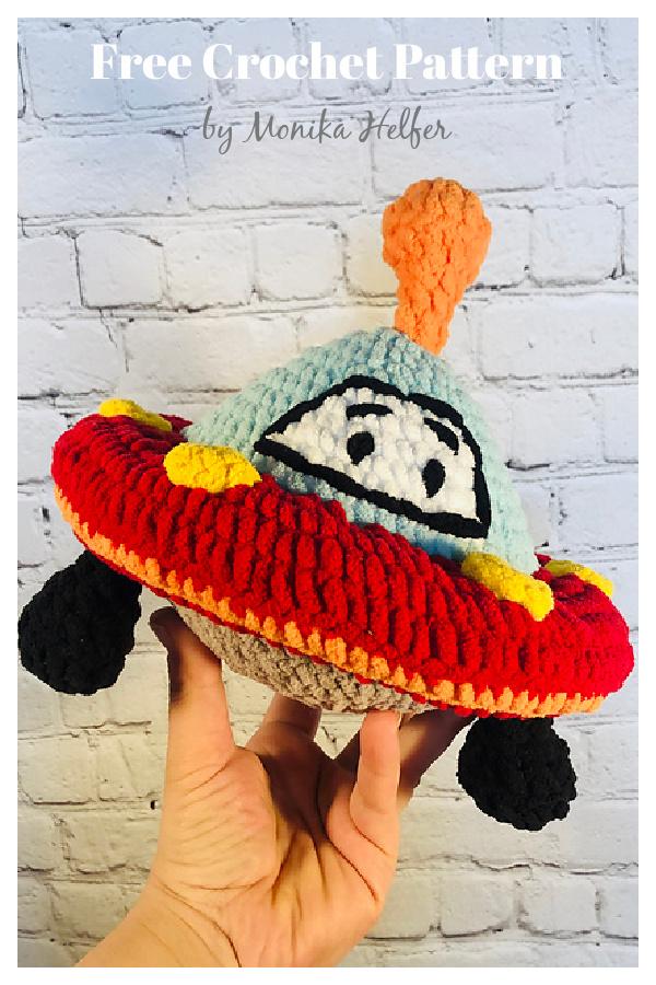 Ulysses the UFO Amigurumi Free Crochet Pattern