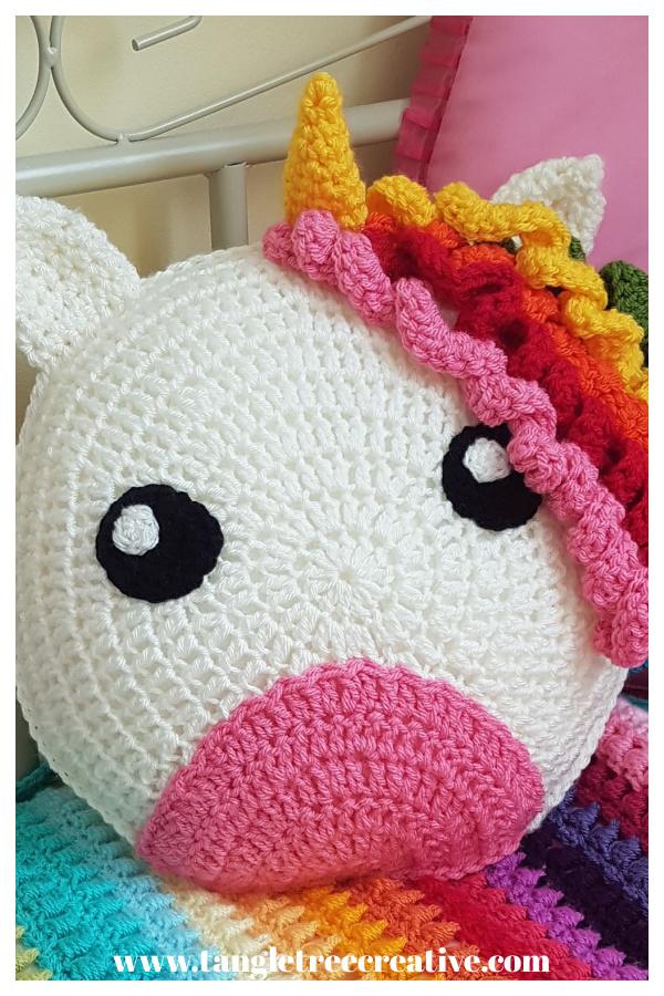 Unicorn Cushion Free Crochet Pattern