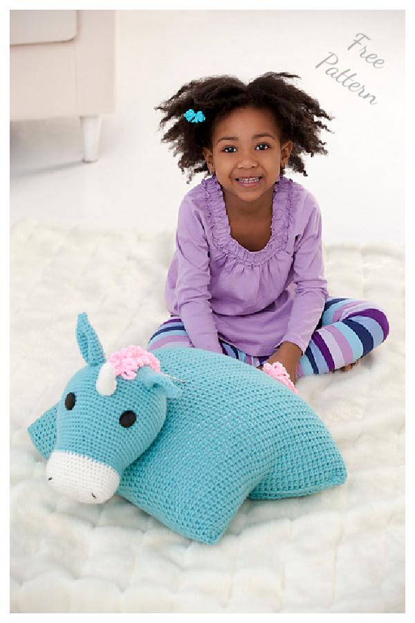 Unicorn Pillow Pal Free Crochet Pattern