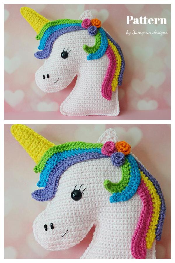 Unicorn Plush Pillow Crochet Pattern