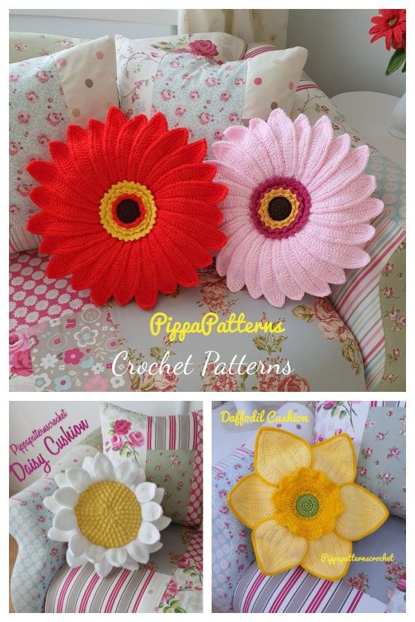 Amazing Flower Pillow Crochet Patterns