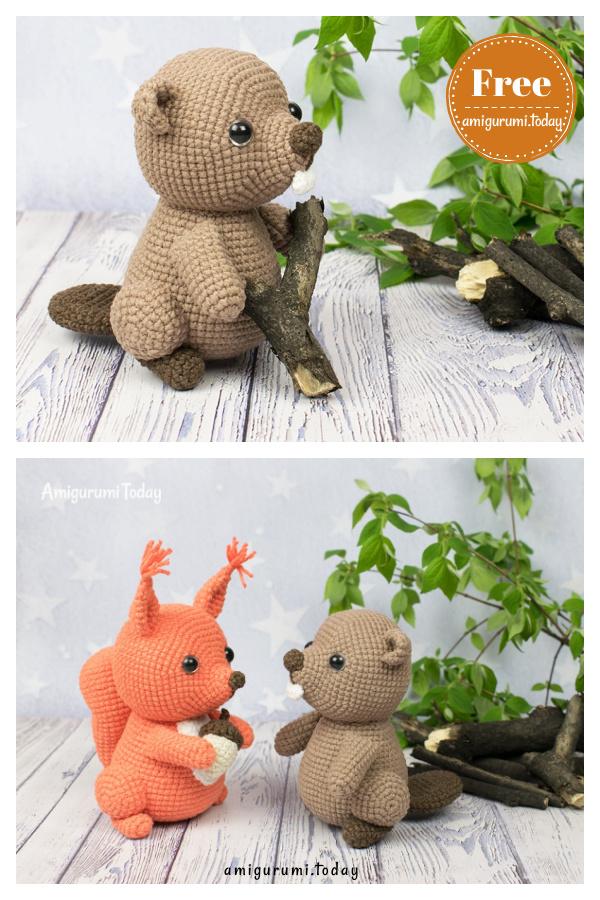 Amigurumi Beaver Free Crochet Pattern
