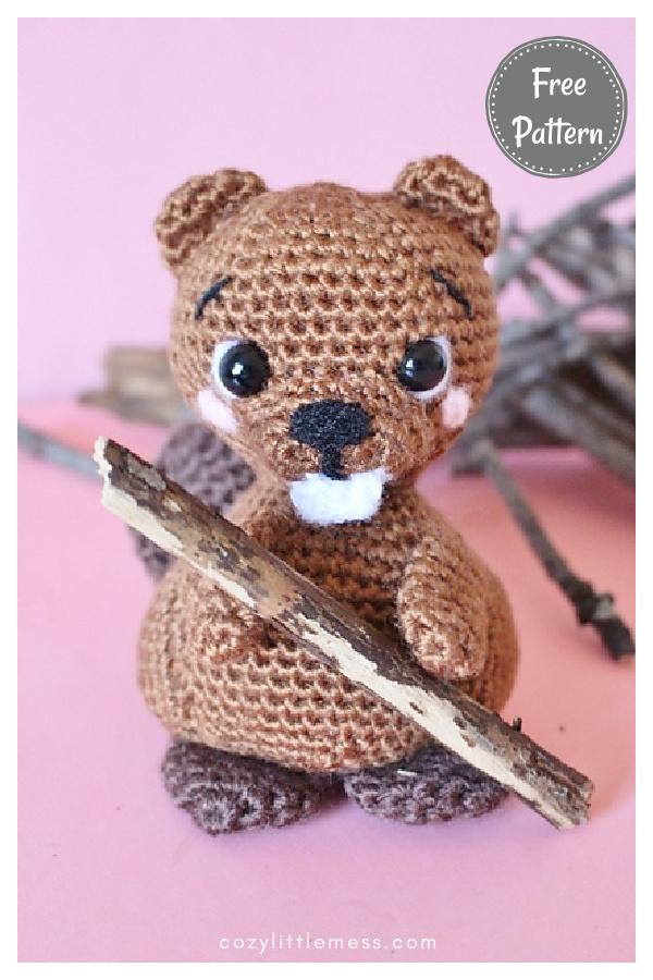 Amigurumi Bobby Beaver Free Crochet Pattern