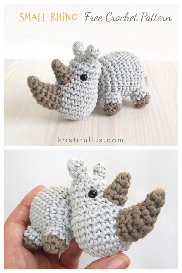 Amigurumi Small Rhino Free Crochet Pattern