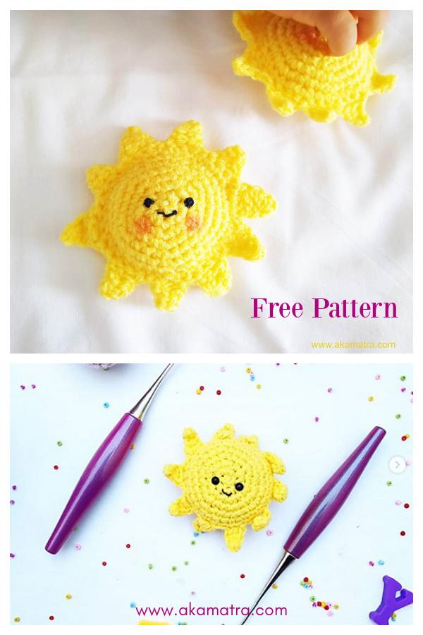 Padrão de Crochê Amigurumi Sun Grátis