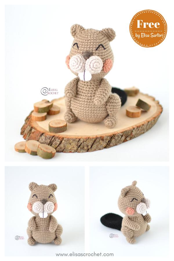 Amigurumi Woody the Beaver Free Crochet Pattern