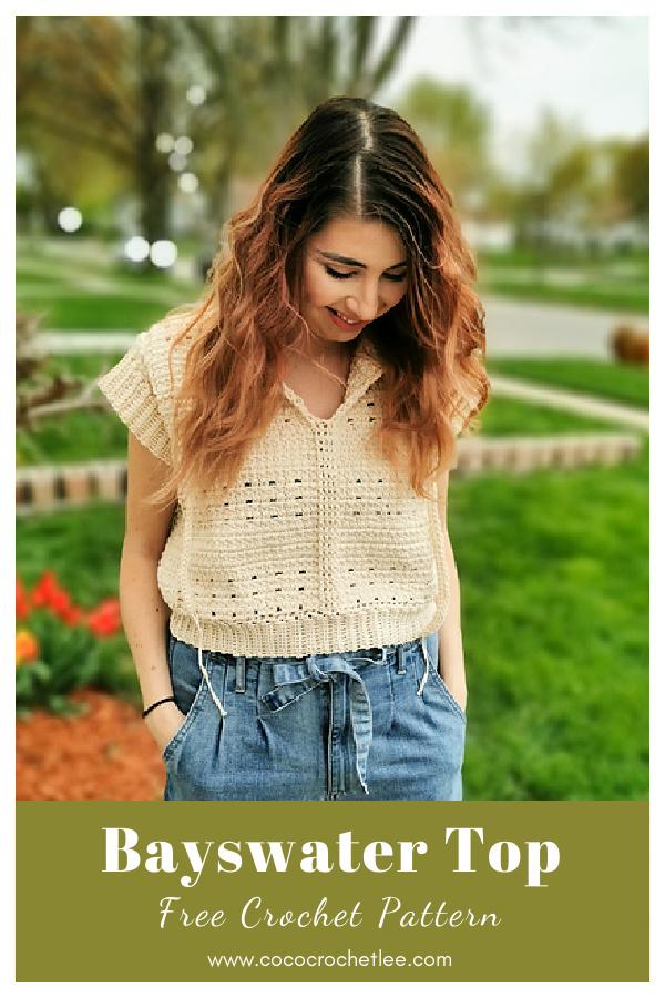 Bayswater Top Free Crochet Pattern