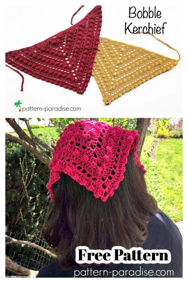 Bobble Kerchief Free Crochet Pattern