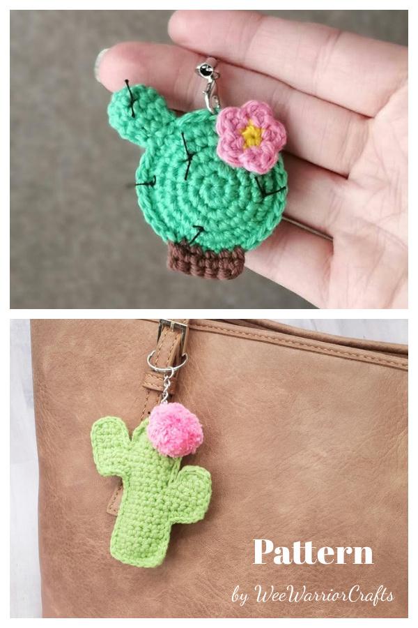 Cactus Keychain Crochet Patterns