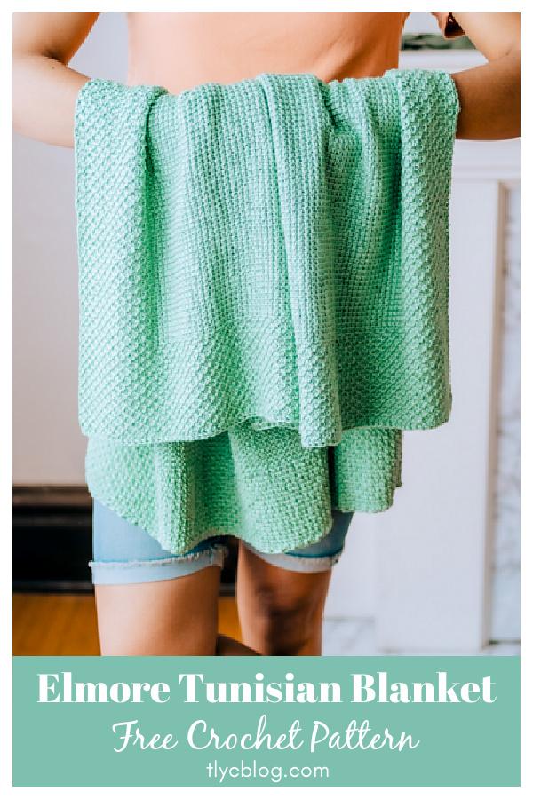 Elmore Tunisian Blanket Free Crochet Pattern