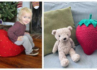 Giant Strawberry Pillow Crochet Patterns