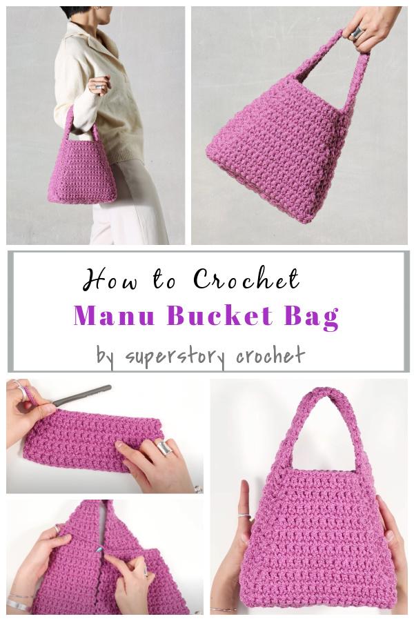 Como fazer crochê Manu Bucket Bag