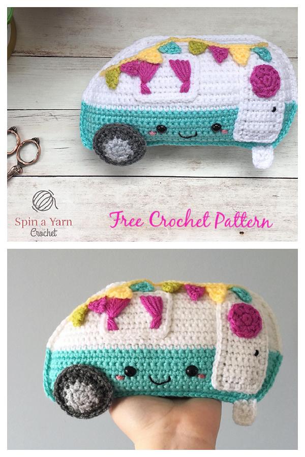 Kawaii Camper Amigurumi Free Crochet Pattern