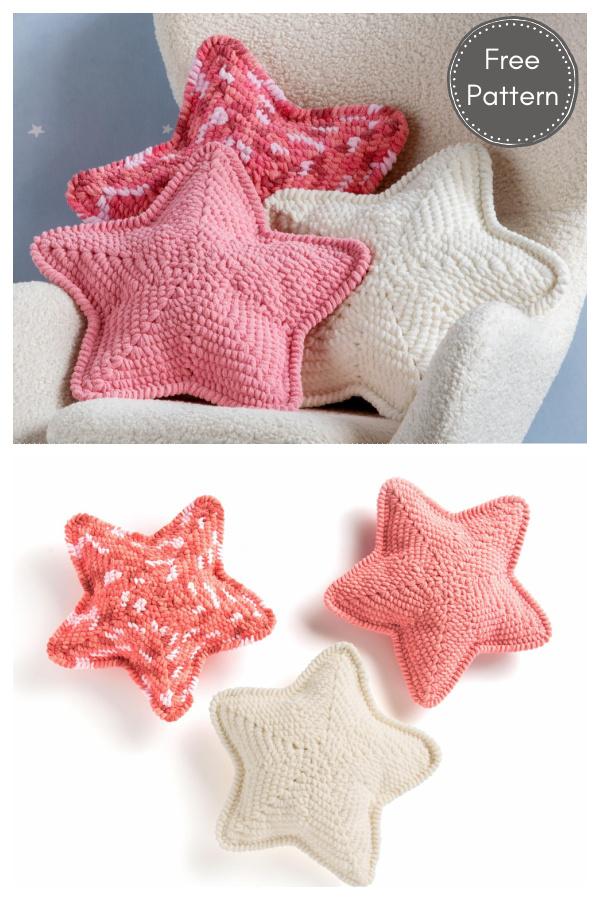 Lucky Star Pillow Free Crochet Pattern