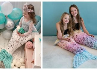 Mermaid Tail Blanket Crochet Patterns