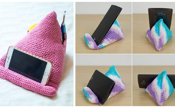 Phone Stand Free Crochet Pattern