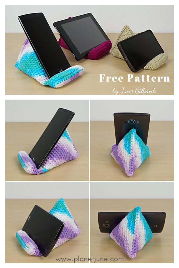 Phone Stand Free Crochet Pattern