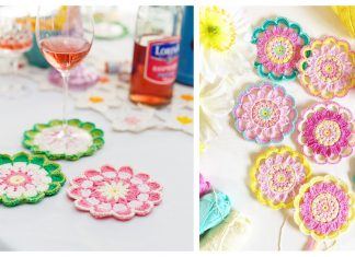 Rounds of Flowers Coasters Free Crochet Pattern
