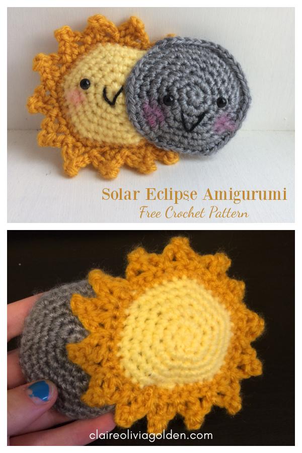 Padrão de crochê livre de eclipse solar Amigurumi