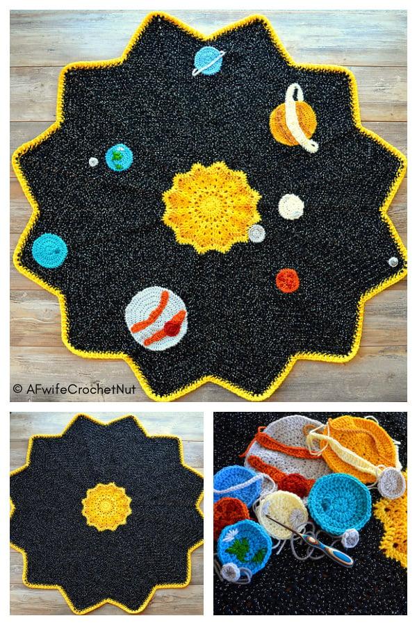 Space Ripple Baby Blanket Free Crochet Pattern