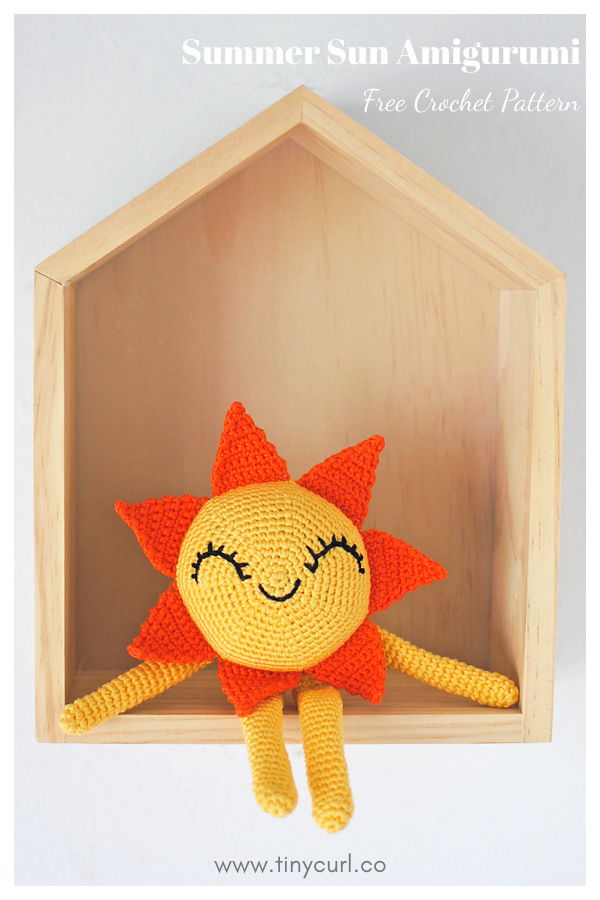 Padrão de crochê livre Summer Sun Amigurumi