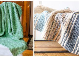 Tunisian Blanket Free Crochet Pattern