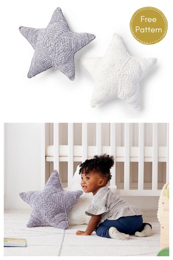 Twinkle Star Pillow Free Crochet Pattern