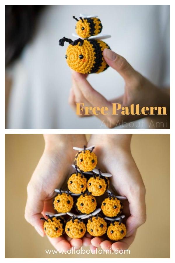 Amigurumi Bumble and Queen Bee Free Crochet Pattern