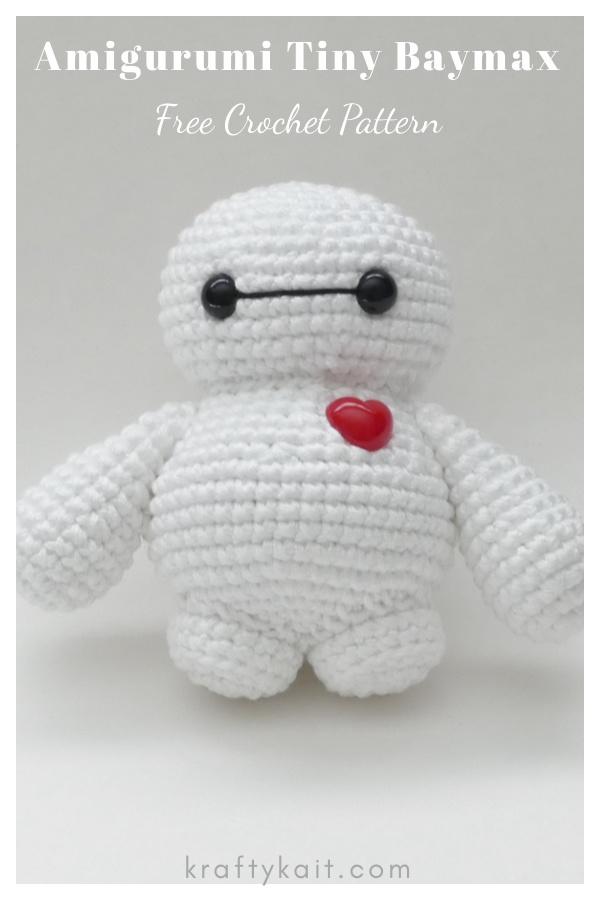 Amigurumi Tiny Baymax Free Crochet Pattern