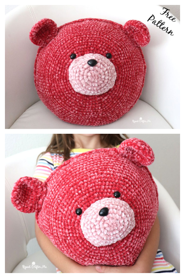 Bear Pillow Free Crochet Pattern