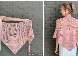 Bella Rosa Shawl Free Crochet Pattern