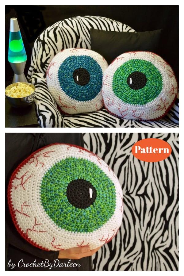 Bloodshot Eyeball Pillow Crochet Pattern