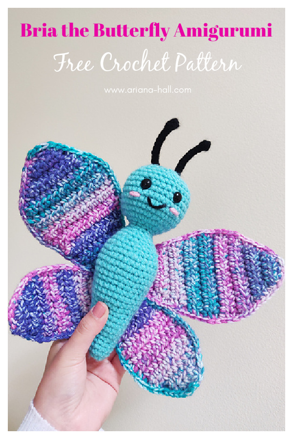 Bria the Butterfly Amigurumi Free Crochet Pattern
