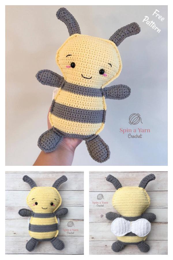 Bumble Bee Amigurumi Free Crochet Pattern