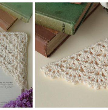 Corner Bookmark Free Crochet Pattern