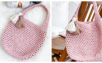 Easy Market Tote Bag Free Crochet Pattern