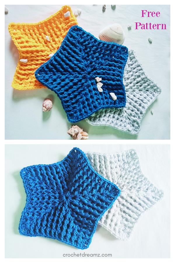 Padrão de crochê livre de toalha de banho Easy Star