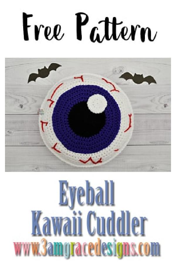 Eyeball Kawaii Cuddler Free Crochet Pattern