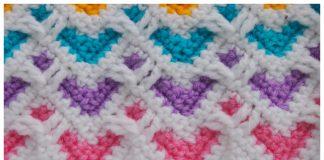 Heart Zig Zag Stitch Free Crochet Pattern and Video Tutorial