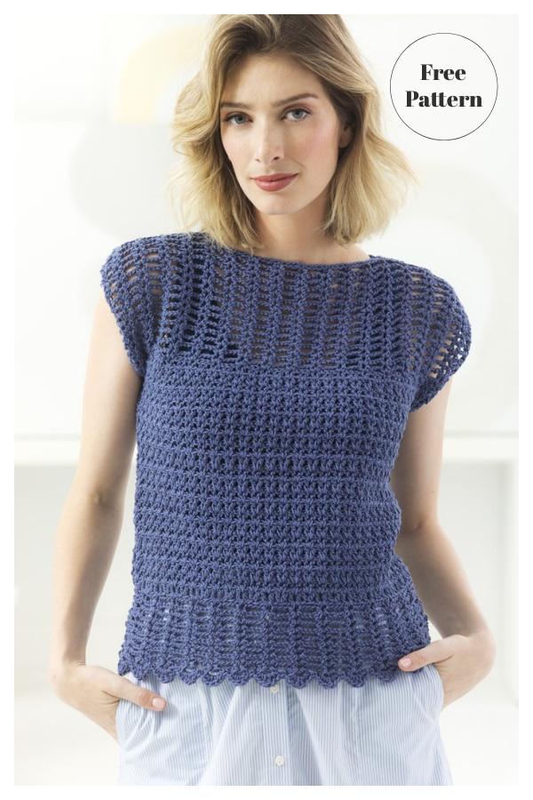 Openwork Top Free Crochet Pattern