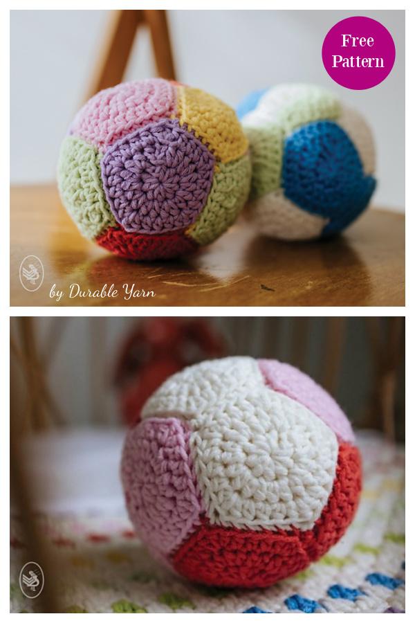 Padrão de crochê grátis para jogar bola
