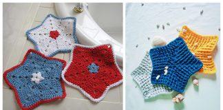 Star Washcloth Free Crochet Pattern