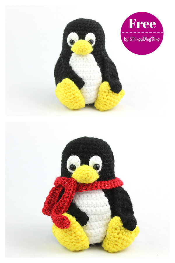 Tux the Penguin Amigurumi Free Crochet Pattern