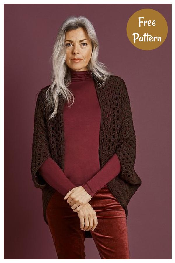 Woodlands Shrug Free Crochet Pattern