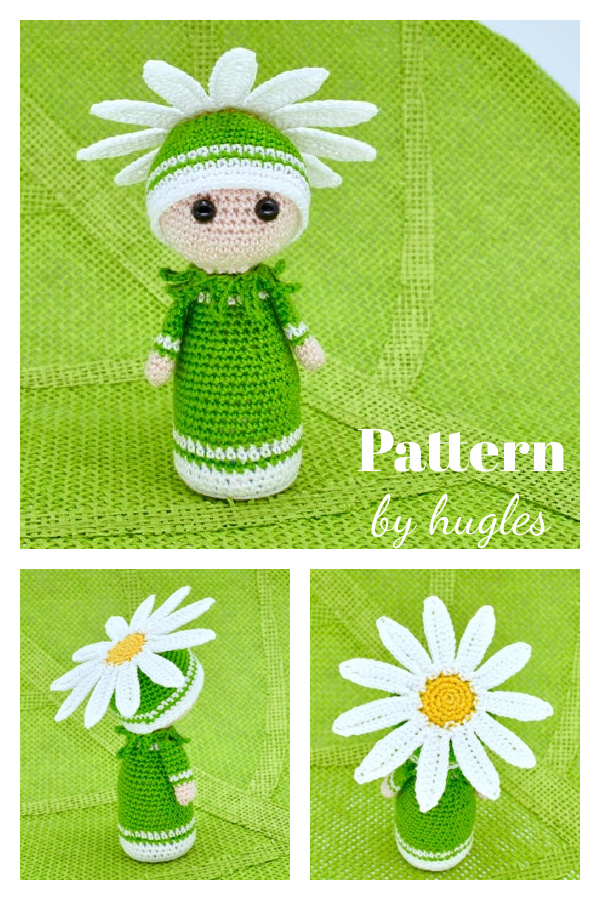 Amigurumi Daisy Flower Doll Crochet Pattern
